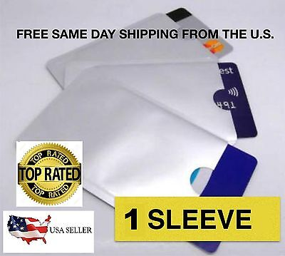 1 ~LOCK YOUR CREDIT CARD~RFID Sleeves~1 ~AS SEEN ON TV~FASTER FREE SHIP~USA#1