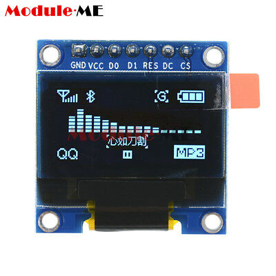"""Blue 3-5V 0.96"""" SPI Serial 128X64 OLED LCD LED Display Module for Arduino MO"""