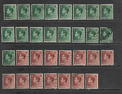 GREAT BRITAIN, EDVlll, 30+ VF,  NICE CANCELLATIONS.SC#230, 32... AND 40+ GEOVl .