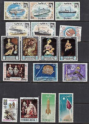 Dubai - Packet of 40+ Colorful  postage stamps - no dups - B6341