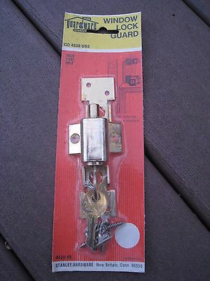 Stanley 4539-05 Brass Window Lock Guard. Made In USA.