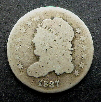 United States 1837  Silver 1/2 Dime