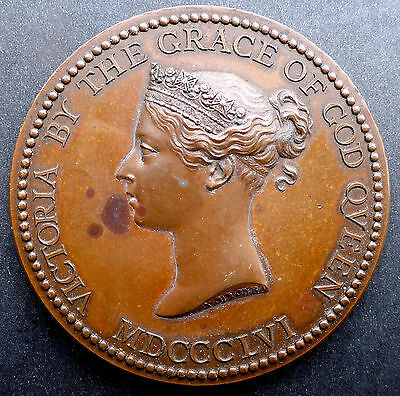 """1856 Victorian National Award For Success Canada Ship $10   Two """" Across 77 Gram"""