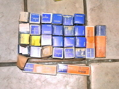 Gros Lot lampe tsf radio ancienne collectionneur 28 ampoules ROHRE SIEMENS DARIO