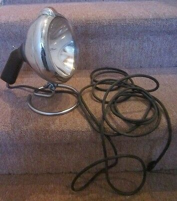 VNTG Unity Spotlight Portable GE Light Lamp Steampunk Industrial Machine Age