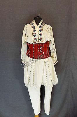 Antique Complete Set Traditional Folk  Bulgarian Man's Costume from Nikopol