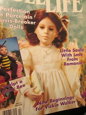 Doll Life Magazine April 1993 Baby Bee, Vickie Walker, Harris-Brooker Dolls, Rom