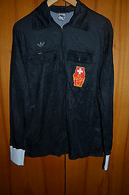 Referee Switzerland 1980`s Football Shirt Jersey Adidas Swiss Vintage