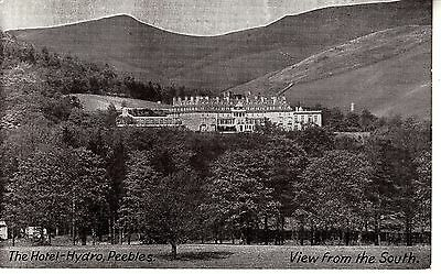 BJ39.Vintage Postcard.The Hotel-Hydro, Peebles.View from the South.