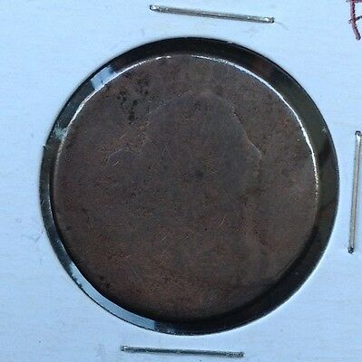 1801 1C Draped Bust LARGE CENT copper coin