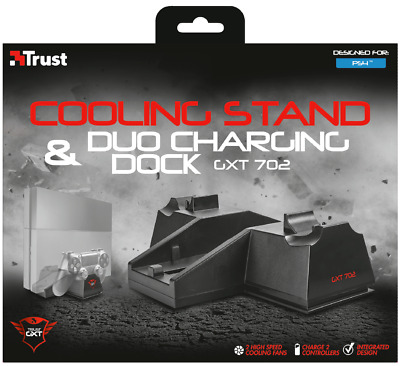 Trust 20166 Gxt 225 Ps4 Vertical Stand, Light & Portable With Anti-Slide Pads