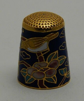 Collectable Metal Thimble Birds and Flowers
