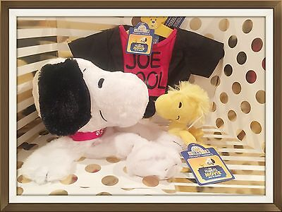 BUILD A BEAR PEANUTS MOVIE SNOOPY, Woodstock Set   NEW!   Sold Out!