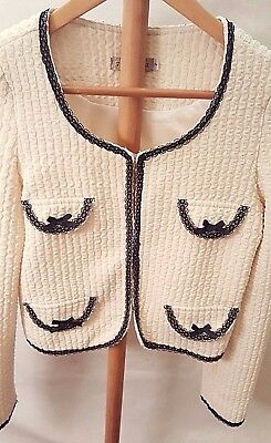J Lamant Rose ~ Size 10/12 Formal Tailored Cream Jacket / Blazer Style