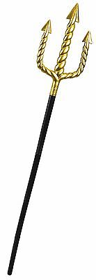 "55"" King Neptune Trident Pitchfork Staff Walking Cane Adult Costume Accessory"