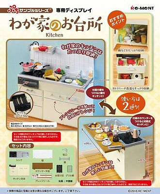 10/2016 Re-Ment Miniature Kitchen Cabinet with Stove and Sink Full Set