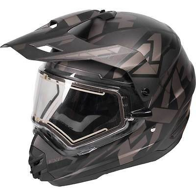 FXR FX-1 Team Black Ops Helmet with Electric Shield LARGE