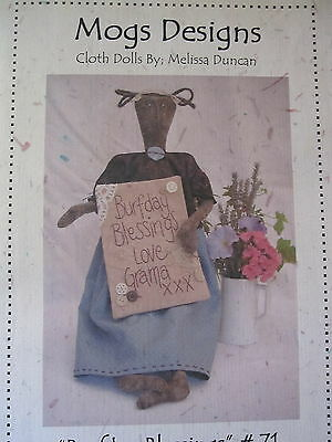 """"""" BURFDAY BLESSINGS """"  Cloth Doll Pattern by Mog Designs"""