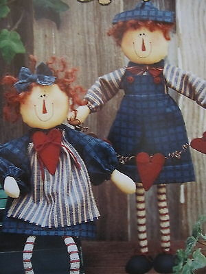 """"""" ALLIE & ANDREW """"  Cloth Doll  Pattern by Sweet Dreams"""