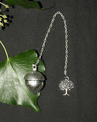 Handmade Silver Acorn Pendulum for divination - Pagan, Wiccan, Witchcraft, Magic