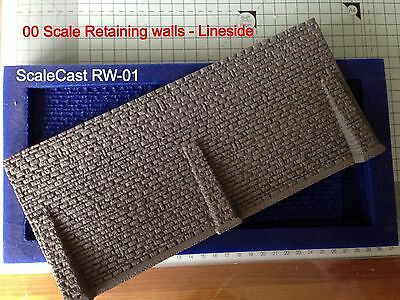 Linka Compatible Stone  Retaining Wall Mould 1:76 Scale OO Gauge Large Mould