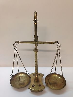 Vintage Antique Brass Scale Balance with all weigh Complete