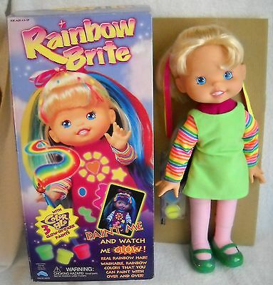 """#4466 NIB Up Up & Away Rainbow Brite 15"""" Doll with Color Glo Paints"""