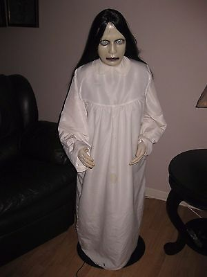 Halloween Prop GRUDGE GIRL THE RING DONNA DEAD Lifesize Animated Sound SEE VIDEO