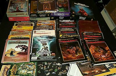 GIGANTIC Lot of Vintage Advanced Dungeons and Dragons Books and Modules Read Des