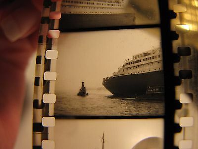 18 Positives of Tugboats and S.S. Normandie New York Late 30's