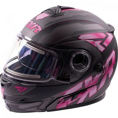 FXR Fuel Modular Elite Helmet Electric Black Fuchsia MEDIUM