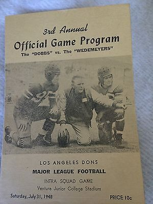 1948 Major League Football Los Angeles Dons Program