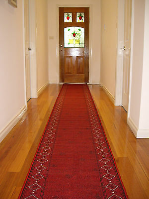 Hall Runner Rug Carpet Patterned Designer 500cm Long FREE DELIVERY Maroon