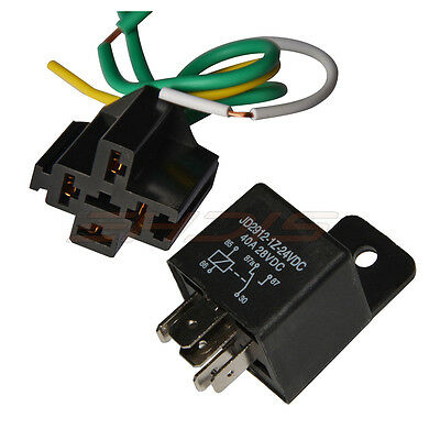 40A 24V 12V DC Car Relay & Hardness Socket Kit, Heavy Duty SPDT Relays 5-PIN USA