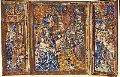 Limoges Triptych about 1500 - Museum of Cluny - Paris, FRANCE - 1930 - Catholic