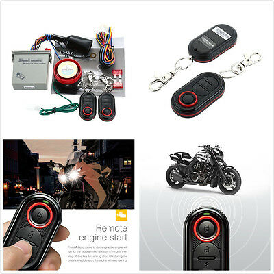 Motorcycles ATV Anti-theft Alarm System Remote Engine Start Security Safety Kit