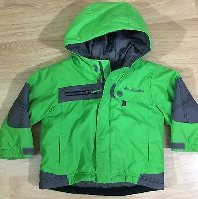 Columbia Coat Baby Toddler Size 2T Green And Gray