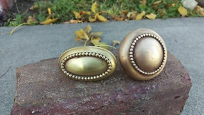 Set Of Two Decrative Brass Door Knobs