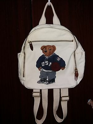 Vintage Polo Bear Bag Pack Pwing Cookie Stadium Sportsman Snow Beach