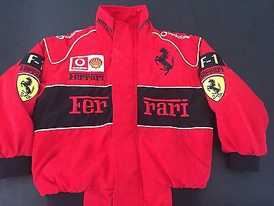 Ferrari Jacket Kids Size S (Small 4-6) Padded Zip Front **EXCELLENT CONDITION**