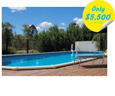 Palm Cove Pool Package 6.2m x 3.8m x 1.37m AUS Made Above Ground Pool