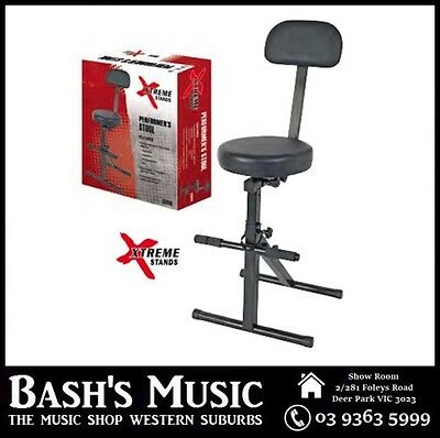 Xtreme Height Adjustable Heavy Duty Guitarist Performer Stool