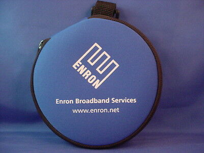 Enron Broadband Services Fabric & Zipper Collectible 12 Cd Portable Storage Case