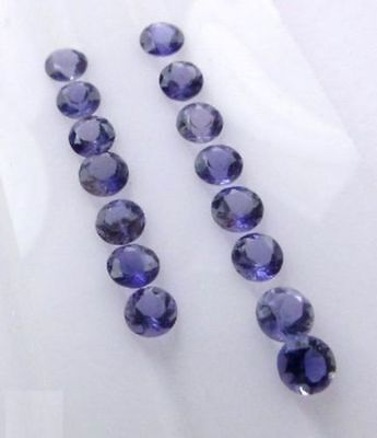 1mm - 6mm Natural Iolite Facete Cut Round Top Quality Blue Color Loose Gemstone