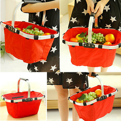 Foldable Eco-friendly Reusable Shopping Bag Grocery Storage Hand Tote Basket