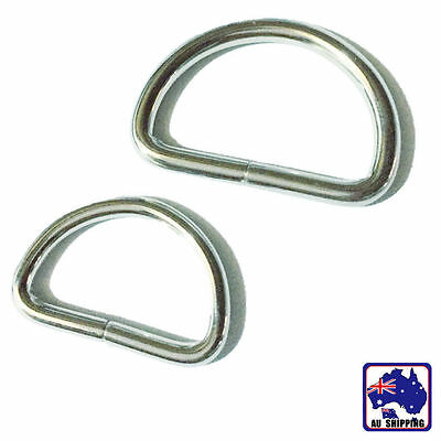 20pcs D Ring Metal Buckle D-rings 25mm Strap Loop Webbing Strapping CKBD00925x20