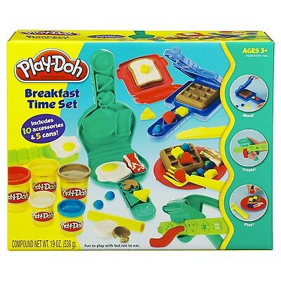 Play-Doh Breakfast Time Set New With 10 Accessories 5 Cans