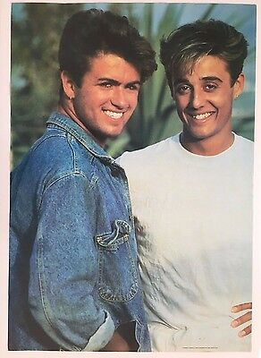 WHAM,GEORGE MICHAEL,AUTHENTIC RARE 1980's  POSTER