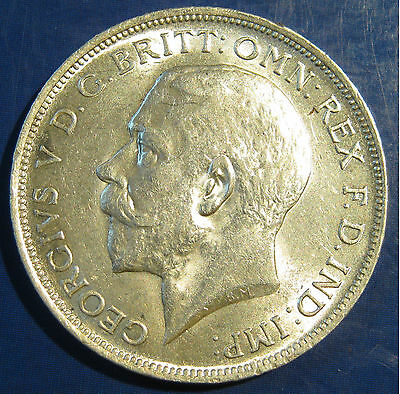 1916 2/- George V silver Florin - good coin, extremely high grade