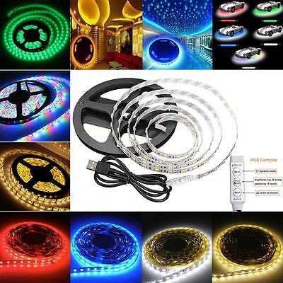 multi-color 0.5-5m rgb 5050 smd waterproof 30led/m light strip flexible 5v USB